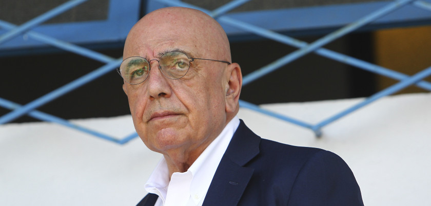 SOLBIATE ARNO, ITALY - JULY 14:  General Manager of AC Milan Adriano Galliani looks on before the preseason friendly match between AC Milan and Legnano on July 14, 2015 in Solbiate Arno, Italy.  (Photo by Marco Luzzani/Getty Images)