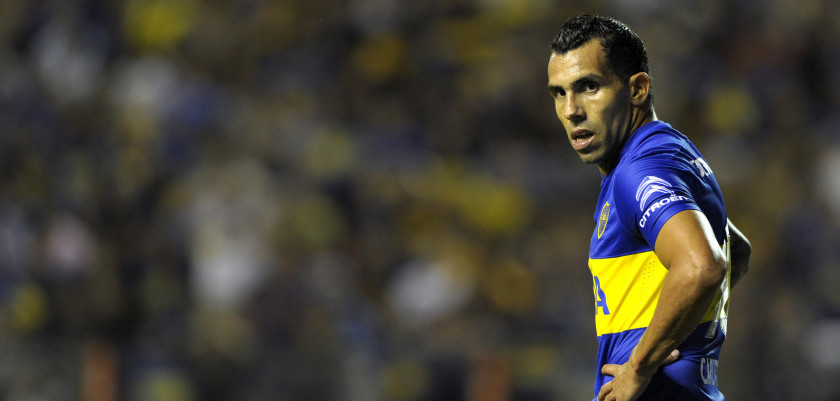 Boca's footballer Carlos Tevez is seen  during their Argentina First Division football match against Newells at La Bombonera stadium, in Buenos Aires, Argentina, on February 20, 2016. AFP PHOTO / ALEJANDRO PAGNI / AFP / ALEJANDRO PAGNI        (Photo credit should read ALEJANDRO PAGNI/AFP/Getty Images)