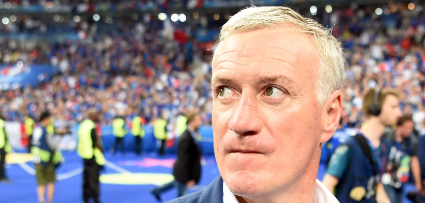 France's coach Didier Deschamps looks dejected after Portugal won the Euro 2016 final football match between Portugal and France at the Stade de France in Saint-Denis, north of Paris, on July 10, 2016. / AFP / PATRIK STOLLARZ        (Photo credit should read PATRIK STOLLARZ/AFP/Getty Images)