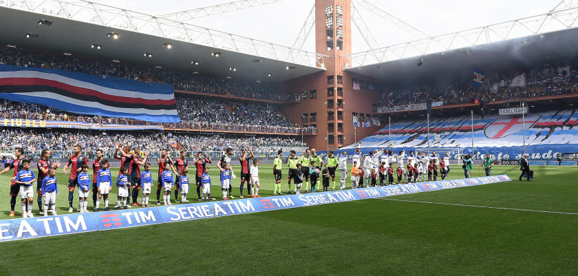 GENOA, ITALY - MAY 08:  A general view during the Serie A match between UC Sampdoria and Genoa CFC at Stadio Luigi Ferraris on May 8, 2016 in Genoa, Italy.  (Photo by Valerio Pennicino/Getty Images)