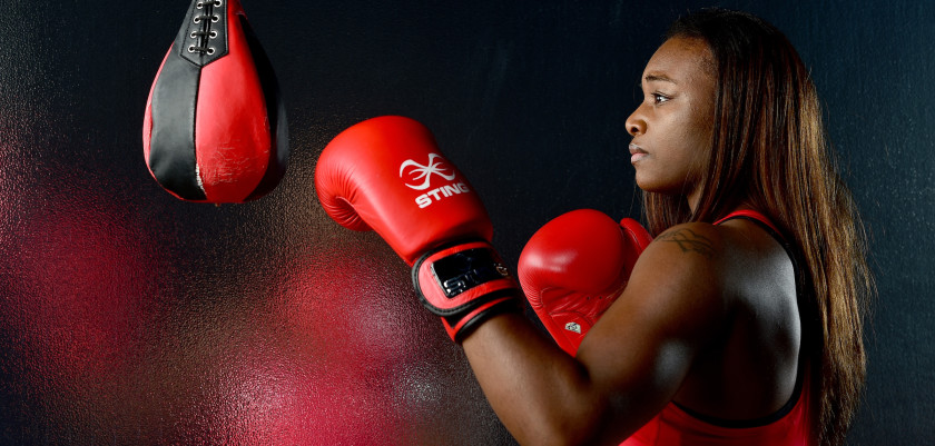 LOS ANGELES, CA - NOVEMBER 19:  Boxer Claressa Shields poses for a portrait at the USOC Rio Olympics Shoot at Quixote Studios on November 19, 2015 in Los Angeles, California.  (Photo by Harry How/Getty Images)