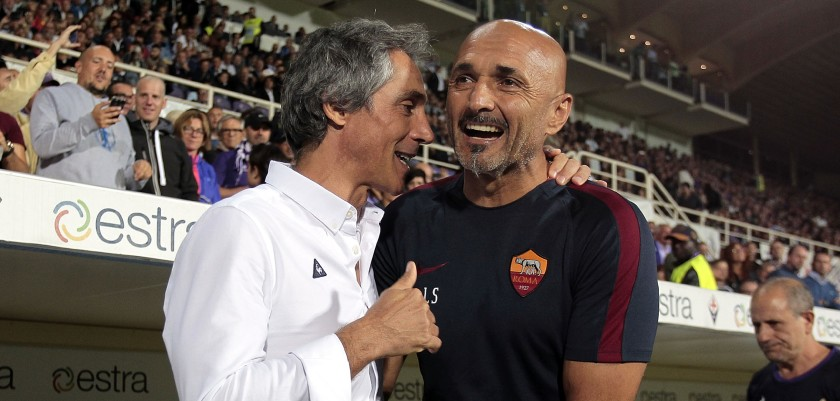 FLORENCE, ITALY - SEPTEMBER 18: Paulo Sousa manager of ACF Fiorentina and Luciano Spalletti manager of AS Roma during the Serie A match between ACF Fiorentina and AS Roma at Stadio Artemio Franchi on September 18, 2016 in Florence, Italy.  (Photo by Gabriele Maltinti/Getty Images)