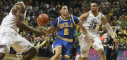 EUGENE, OR - DECEMBER 28: Lonzo Ball #2 of the UCLA Bruins tries to get around Dillon Brooks #24 of the Oregon Ducks late in the game at Matthew Knight Arena on December 28, 2016 in Eugene, Oregon.  (Photo by Steve Dykes/Getty Images)