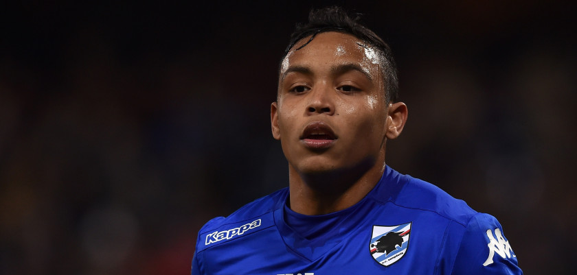 GENOA, ITALY - MARCH 07:  Luis Fernando Muriel of UC Sampdoria looks on during the Serie A match between UC Sampdoria and Cagliari Calcio at Stadio Luigi Ferraris on March 7, 2015 in Genoa, Italy.  (Photo by Valerio Pennicino/Getty Images)
