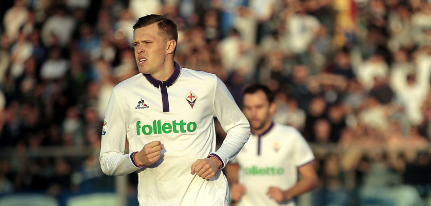 EMPOLI, ITALY - NOVEMBER 20: Josip Ilicic of ACF Fiorentina celebrates after scoring a goal during the Serie A match between Empoli FC and ACF Fiorentina at Stadio Carlo Castellani on November 20, 2016 in Empoli, Italy.  (Photo by Gabriele Maltinti/Getty Images)
