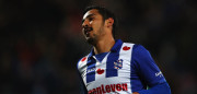 HEERENVEEN, NETHERLANDS - JANUARY 14:  Reza Ghoochannejhad of sc Heerenveen celebrates scoring his teams second goal of the game during the Dutch Eredivisie match between SC Heerenveen and ADO Den Haag held at Abe Lenstra Stadium on January 14, 2017 in Heerenveen, Netherlands.  (Photo by Dean Mouhtaropoulos/Getty Images)