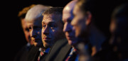ZURICH, SWITZERLAND - DECEMBER 02:  Roman Abramovich sits amongst the Russian Bid Team after winning the bid to host the 2018  Tournament during the FIFA World Cup 2018 & 2022 Host Countries Announcement at the Messe Conference Centre on December 2, 2010 in Zurich, Switzerland.  (Photo by Laurence Griffiths/Getty Images)