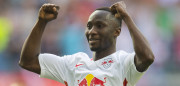 Leipzig's Guinean midfielder Naby Keita celebrates after scoring the 4-0 during the German first division Bundesliga football match between RB Leipzig and SV Darmstadt 98 in Leipzig, eastern Germany, on April 1, 2017. / AFP PHOTO / ROBERT MICHAEL / RESTRICTIONS: DURING MATCH TIME: DFL RULES TO LIMIT THE ONLINE USAGE TO 15 PICTURES PER MATCH AND FORBID IMAGE SEQUENCES TO SIMULATE VIDEO. == RESTRICTED TO EDITORIAL USE == FOR FURTHER QUERIES PLEASE CONTACT DFL DIRECTLY AT + 49 69 650050         (Photo credit should read ROBERT MICHAEL/AFP/Getty Images)
