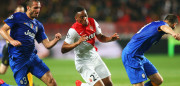 MONACO - APRIL 22: Anthony Martial of Monaco goes past Giorgio Chiellini (L) of Juventus during the UEFA Champions League quarter-final second leg match between AS Monaco FC and Juventus at Stade Louis II on April 22, 2015 in Monaco, Monaco.  (Photo by Alex Livesey/Getty Images)
