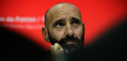 "Sevilla's Sports director Ramon Rodriguez Verdejo aka Monchi looks on during a press conference held to announce that he will leave the Sevilla FC, at the Ramon Sanchez Pizjuan stadium in Sevilla on March 31, 2017.  Sevilla said on March 30, 2017 that highly respected sporting director Ramon Rodriguez Verdejo, better known as ""Monchi"", was leaving the club after guiding it through its most successful era. / AFP PHOTO / CRISTINA QUICLER        (Photo credit should read CRISTINA QUICLER/AFP/Getty Images)"