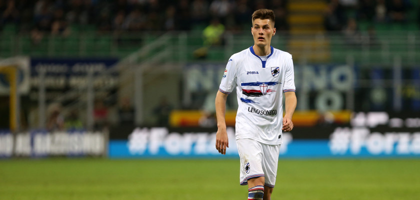 STADIO MEAZZA, MILANO, ITALY - 2017/04/03: Patrik Schick of Uc Sampdoria   during the Serie A match between FC Internazionale and Uc Sampdoria .  UC Sampdoria wins 2-1 over Internazionale Fc. (Photo by Marco Canoniero/LightRocket via Getty Images)