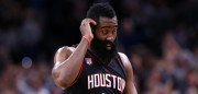 SAN ANTONIO, TX - MAY 09:  James Harden #13 of the Houston Rockets walks off the court after an overtime loss against the San Antonio Spurs during Game Five of the Western Conference Semi-Finals at AT&T Center on May 9, 2017 in San Antonio, Texas.  NOTE TO USER: User expressly acknowledges and agrees that, by downloading and or using this photograph, User is consenting to the terms and conditions of the Getty Images License Agreement.  (Photo by Ronald Martinez/Getty Images)