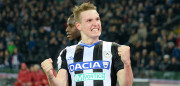 UDINE, ITALY - MARCH 19:  Jakub Jankto of Udinese Calcio celebrates after scoring  his teams fourth goal  during the Serie A match between Udinese Calcio and US Citta di Palermo at Stadio Friuli on March 19, 2017 in Udine, Italy.  (Photo by Dino Panato/Getty Images)