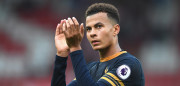 STOKE ON TRENT, ENGLAND - SEPTEMBER 10:  Dele Alli of Tottenham Hotspur claps the fans during the Premier League match between Stoke City and Tottenham Hotspur at Britannia Stadium on September 10, 2016 in Stoke on Trent, England.  (Photo by Laurence Griffiths/Getty Images)