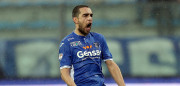 EMPOLI, ITALY - FEBRUARY 05: Giuseppe Bellusci of Empoli Fc reacts during the Serie A match between Empoli FC and FC Torino at Stadio Carlo Castellani on February 5, 2017 in Empoli, Italy.  (Photo by Gabriele Maltinti/Getty Images)