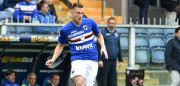 GENOA, GE - APRIL 23:  Milan Skriniar (Sampdoria) in action during the Serie A match between UC Sampdoria and FC Crotone at Stadio Luigi Ferraris on April 23, 2017 in Genoa, Italy.  (Photo by Paolo Rattini/Getty Images)