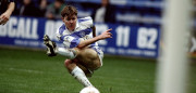 23 Jan 1993:  Bradley Allen of Queens Park Rangers shoots at goal during the FA Cup 4th Round match against Manchester City played at Loftus Road in London, England.  Manchester City won the match 2-1.   Mandatory Credit: Allsport  /Allsport
