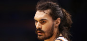 OKLAHOMA CITY, OK - MAY 28:  Steven Adams #12 of the Oklahoma City Thunder looks on during the first half against the Golden State Warriors in game six of the Western Conference Finals during the 2016 NBA Playoffs at Chesapeake Energy Arena on May 28, 2016 in Oklahoma City, Oklahoma. NOTE TO USER: User expressly acknowledges and agrees that, by downloading and or using this photograph, User is consenting to the terms and conditions of the Getty Images License Agreement.  (Photo by Maddie Meyer/Getty Images)