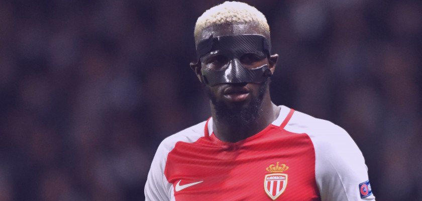 Monaco's French midfielder Tiemoue Bakayoko looks on during the UEFA Champions League semi-final first leg football match Monaco versus Juventus at the Stade Louis II stadium in Monaco on May 3, 2017. / AFP PHOTO / PASCAL GUYOT        (Photo credit should read PASCAL GUYOT/AFP/Getty Images)