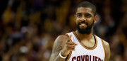 CLEVELAND, OH - MAY 23:  Kyrie Irving #2 of the Cleveland Cavaliers celebrates late in the fourth quarter of their 112 to 99 win over the Boston Celtics during Game Four of the 2017 NBA Eastern Conference Finals at Quicken Loans Arena on May 23, 2017 in Cleveland, Ohio. NOTE TO USER: User expressly acknowledges and agrees that, by downloading and or using this photograph, User is consenting to the terms and conditions of the Getty Images License Agreement.  (Photo by Gregory Shamus/Getty Images)