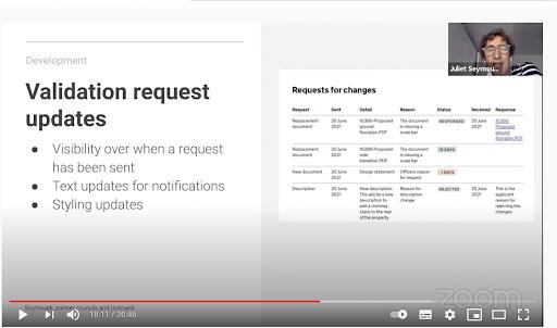 BoPs Validation request updates screenshot