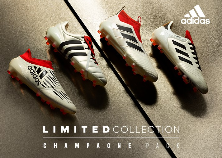Buy the new adidas 'Champagne Pack' football boots on unisportstore.com