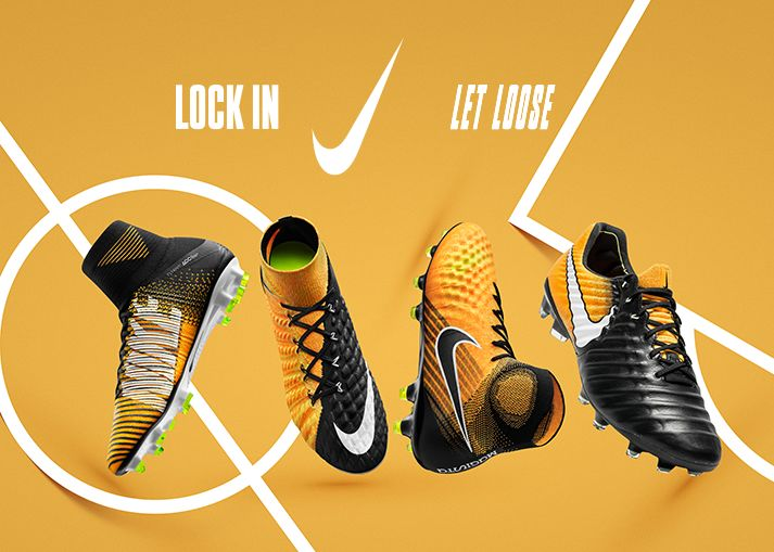 Get your Lock in, let loose Nike football boots on unisportstore.com