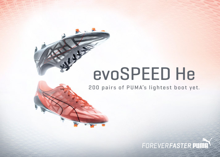 Get the PUMA evoSPEED He boots on unisportstore.com