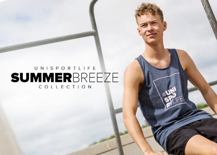 Get the #unisportlife Summer Breeze collection - worldwide shipping