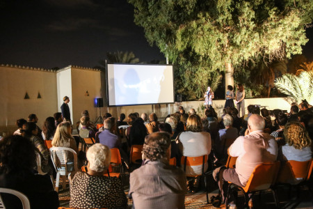 Open air film screening