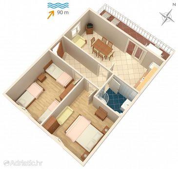 Apartman A-1005-a - Apartmanok Mastrinka (Čiovo) - 1005