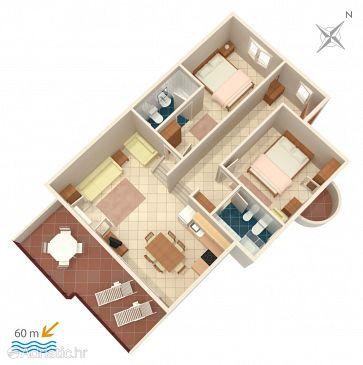 Apartmán A-1068-b - Ubytovanie Rastići (Čiovo) - 1068