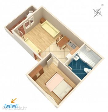 Ferienwohnung A-2099-a - Ferienwohnungen und Zimmer Sumpetar (Omiš) - 2099