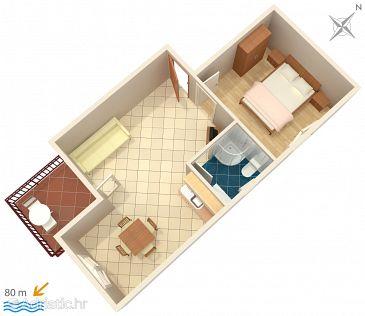 Apartment A-2974-a - Apartments Lokva Rogoznica (Omiš) - 2974