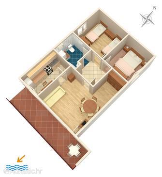 Haus K-4204 - Ferienhaus Tribunj (Vodice) - 4204