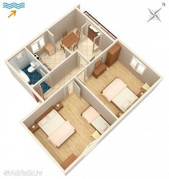 Apartmán A-4550-a - Ubytování Drače (Pelješac) - 4550