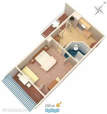 Apartmán A-4632-b - Ubytování Duće (Omiš) - 4632
