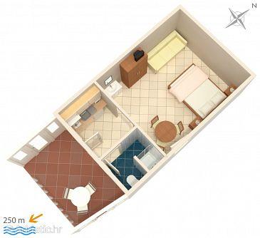 Garsonieră AS-4632-f - Apartamente și camere Duće (Omiš) - 4632