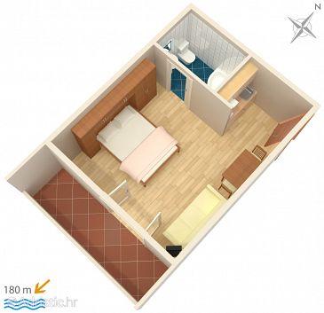 Stúdió AS-4841-c - Apartmanok és szobák Makarska (Makarska) - 4841