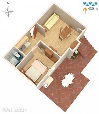 Apartman A-5386-a - Apartmanok Vantačići (Krk) - 5386