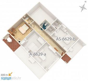 Štúdio AS-6629-a - Ubytovanie Seline (Paklenica) - 6629