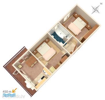 Apartman A-860-a - Apartmanok Biograd na Moru (Biograd) - 860