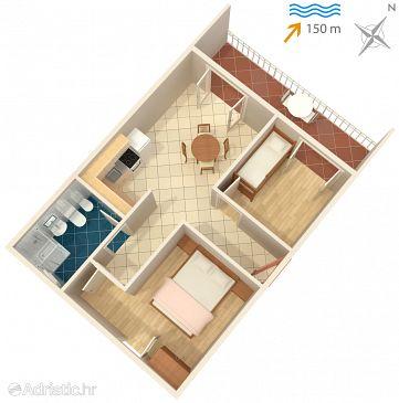Apartament A-974-b - Apartamenty Seget Vranjica (Trogir) - 974