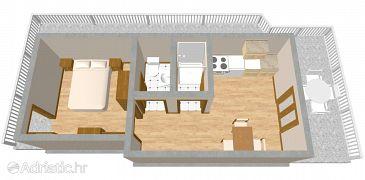 Apartmán A-990-a - Ubytování Lučica (Lastovo) - 990