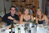 Cena de sobaquillo: Dani Cervera junto al lado femenino de Verema: Esther y Mari Carmen