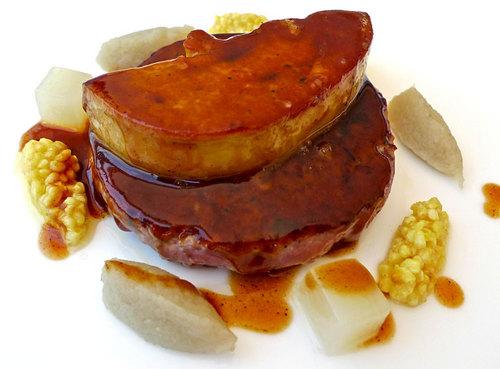 Restaurante Miramar (Girona) burger de pato