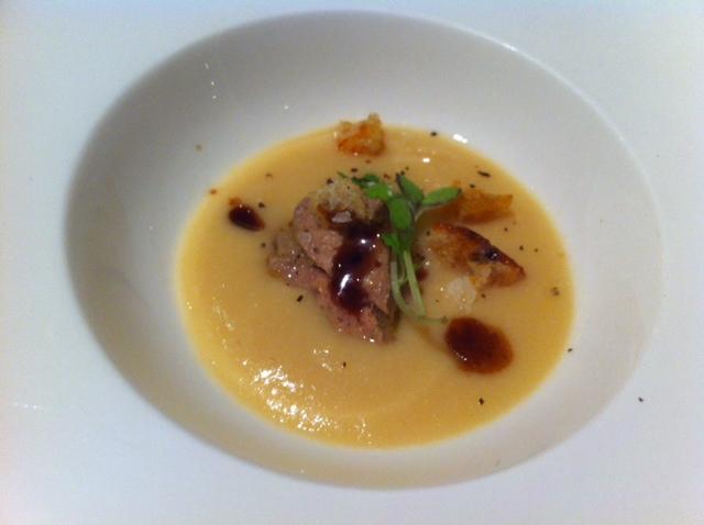 El Celler del Tossal (Valencia) Crema de garbanzos con foie