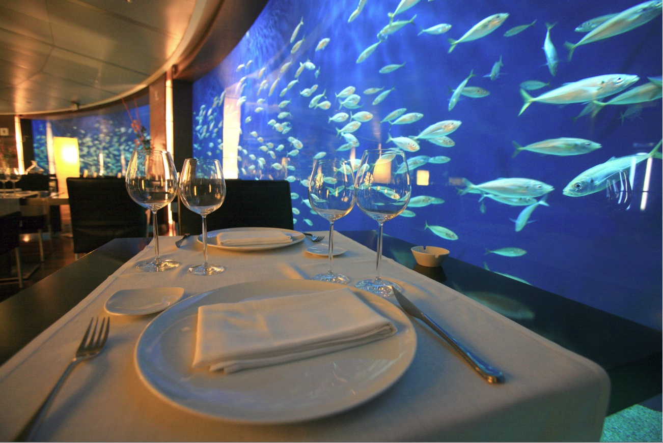 Restaurante submarino oceanogr fic valencia for Hotel bajo el agua precio