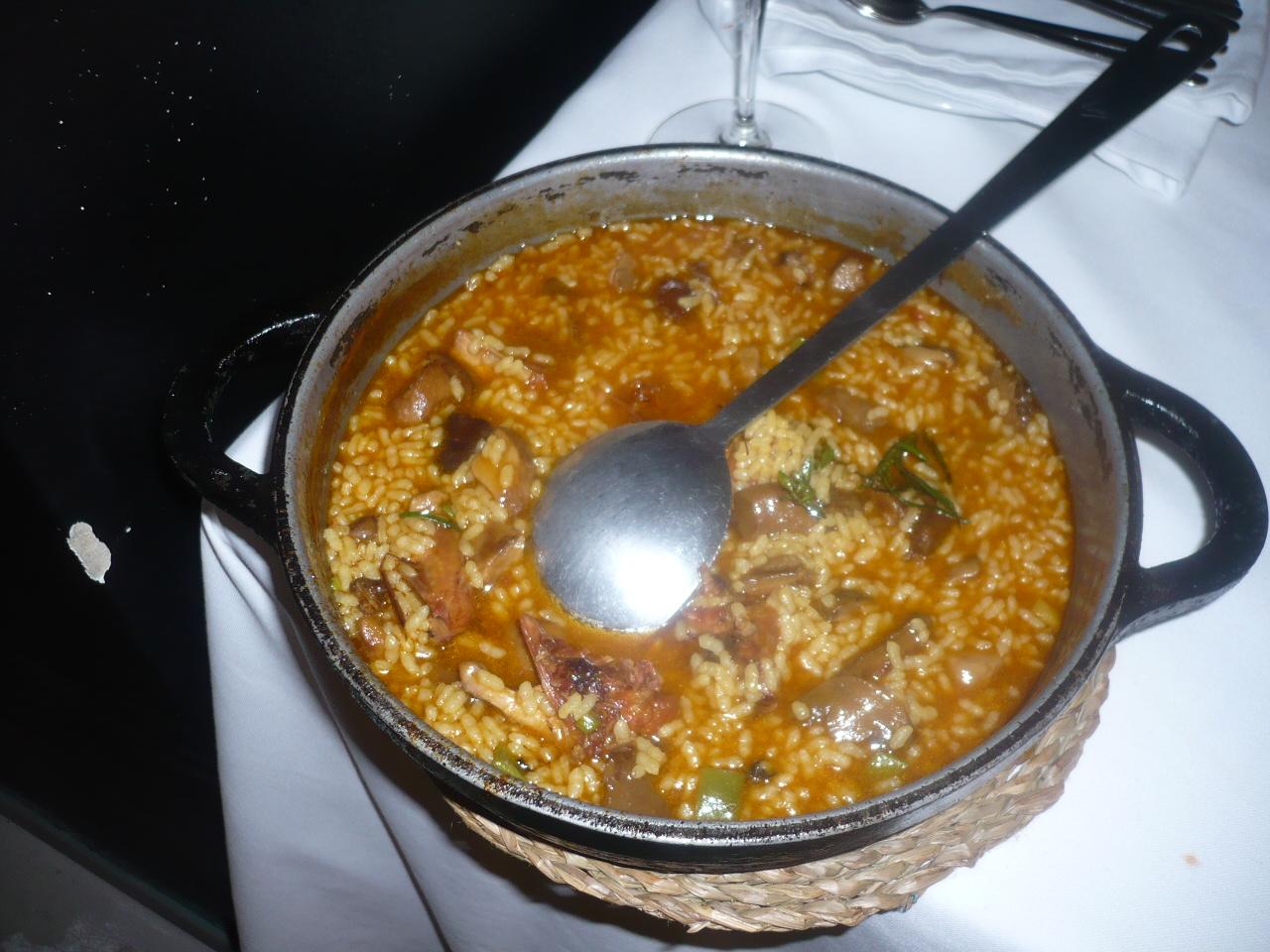Restaurante El Celler del Tossal (Valencia) arroz de codorniz