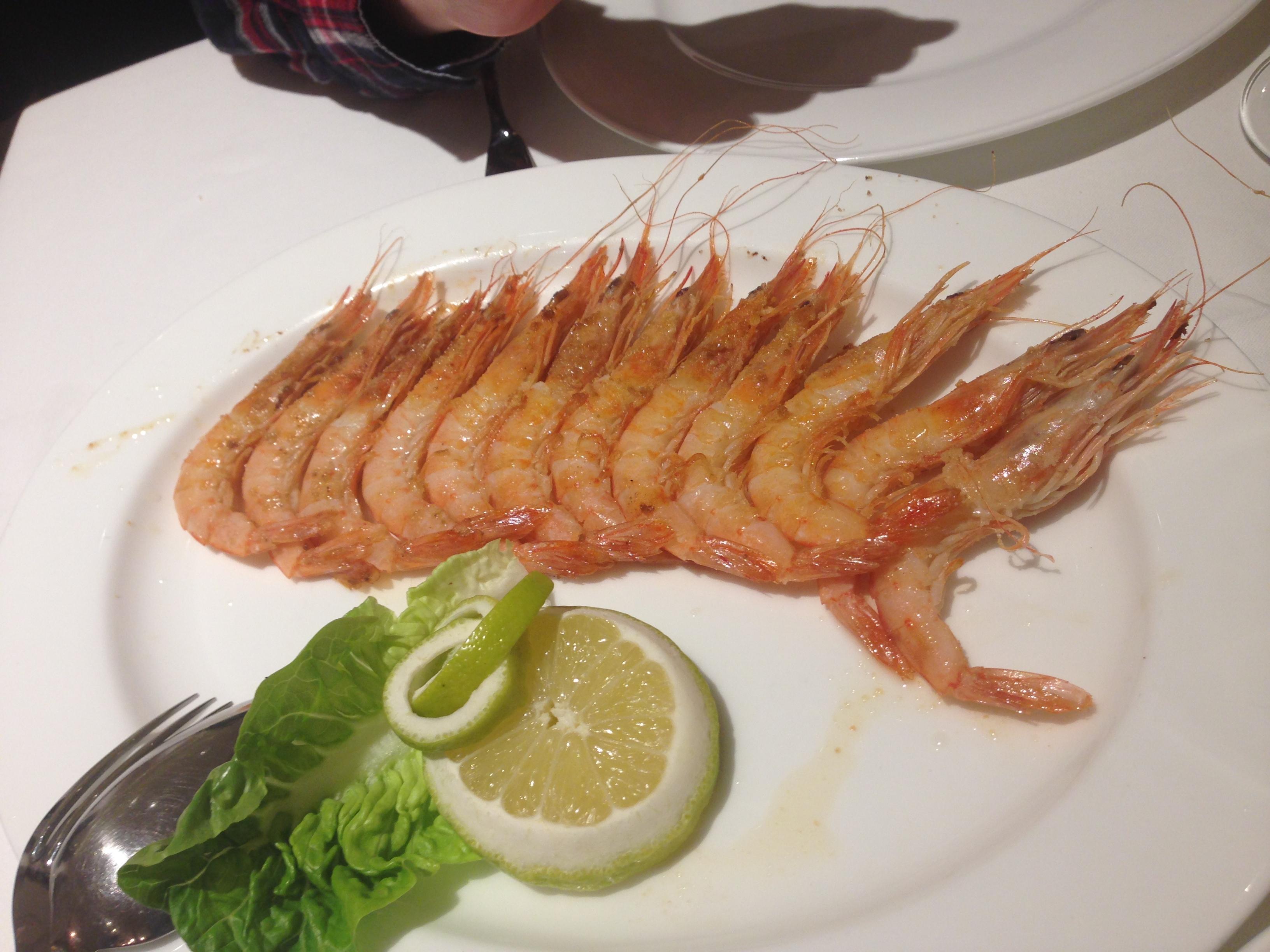 Restaurante en Bilbao Gambas a la plancha